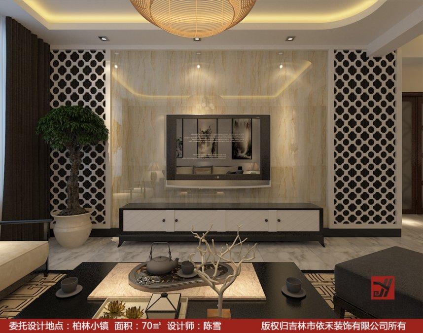 客厅墙面贴砖效果图 欧式